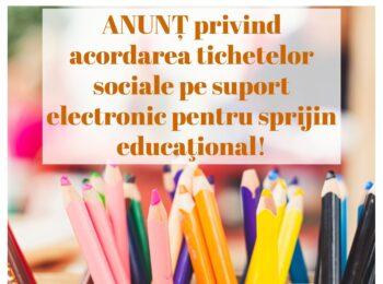 Tichete sociale grădiniță/școlari